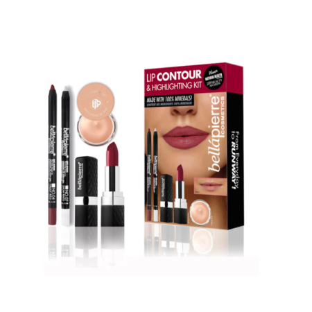 Bellápierre Lip Contour & Highlighting Kit Red
